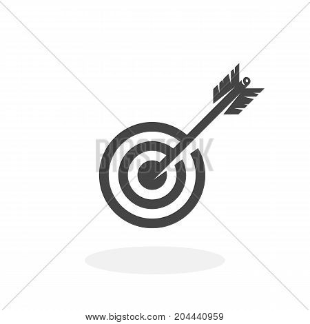 Target icon isolated on white background. Target vector logo. Flat design style. Modern vector pictogram for web graphics - stock vector