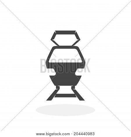 Train icon isolated on white background. Train vector logo. Flat design style. Modern vector pictogram for web graphics - stock vector