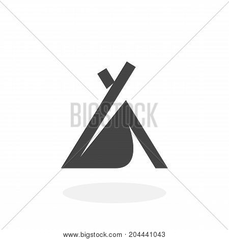 Wigwam icon isolated on white background. Camping vector logo. Flat design style. Camping vector pictogram for web graphics - stock vector