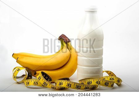 diet, fitness, sports nutrition, banana, centimeter, yogurt