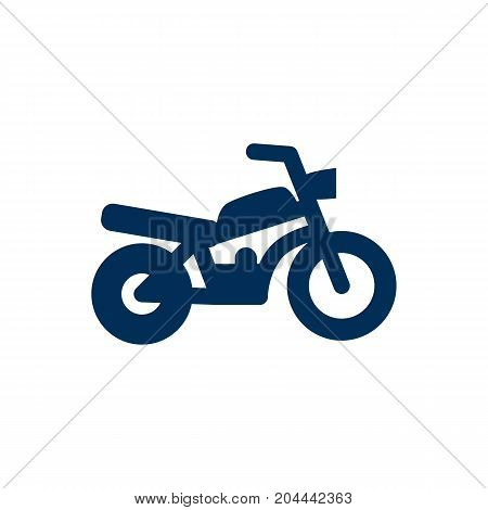 Vector Motorbike Element In Trendy Style.  Isolated Motorcycle Icon Symbol On Clean Background.