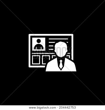 Profile Icon. Business Concept. Flat Design Isolated Illustration