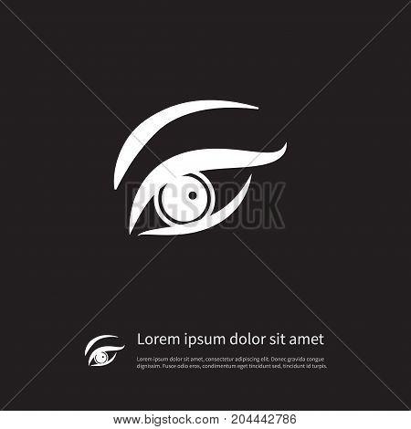 Eyesight Vector Element Can Be Used For Eye, Eyelid, Eyesight Design Concept.  Isolated Eyelid Icon.