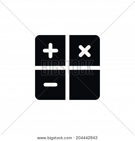 Subtraction Vector Element Can Be Used For Calculator, Calculate, Subtraction Design Concept.  Isolated Calculator Icon.