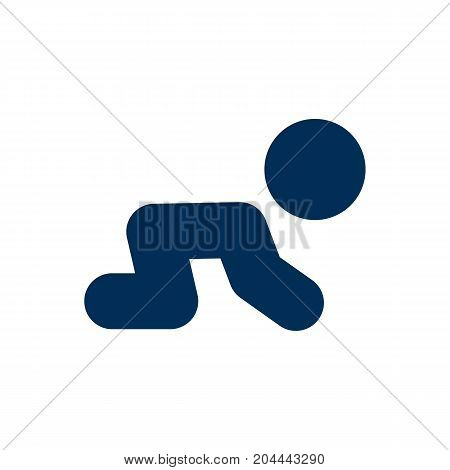 Isolated Crawling Kid Icon Symbol On Clean Background