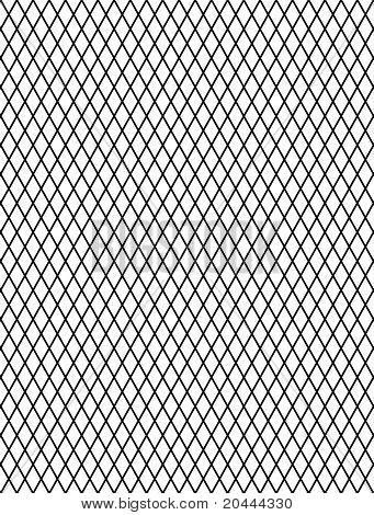 Decorative rhomboid grid