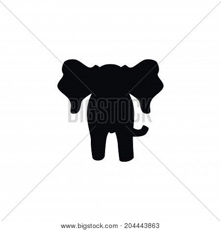 Proboscis Vector Element Can Be Used For Elephant, Trunked, Proboscis Design Concept.  Isolated Elephant Icon.
