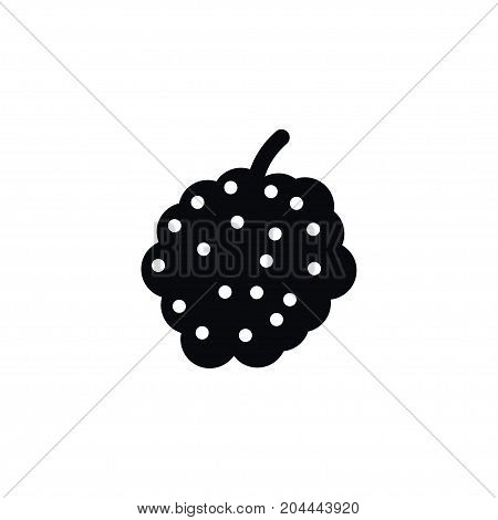 Blackberry  Vector Element Can Be Used For Bramble, Blackberry, Dewberry Design Concept.  Isolated Bramble Icon.