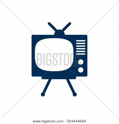Isolated Tv Set Icon Symbol On Clean Background