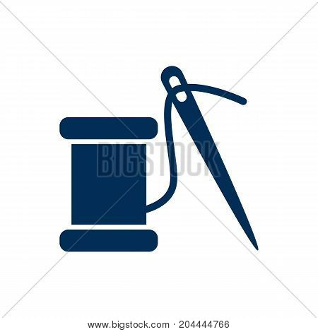 Vector Sewing Element In Trendy Style.  Isolated Repair Icon Symbol On Clean Background.