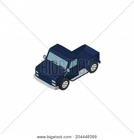Suv  Vector Element Can Be Used For Suv, Pickup, Car Design Concept.  Isolated Pickup Isometric.