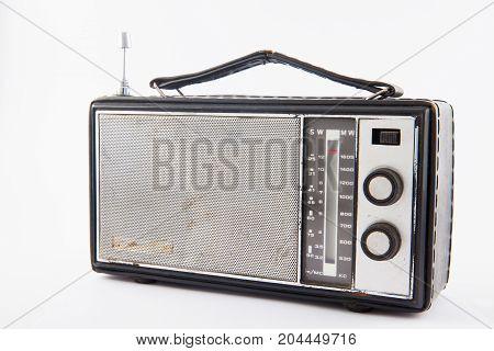 Old Retro Radio Isolated On White Background