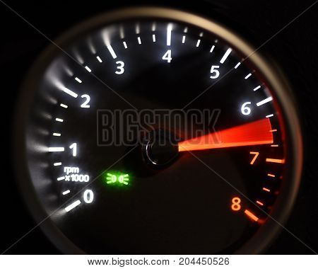 speedmeter black background with green and red