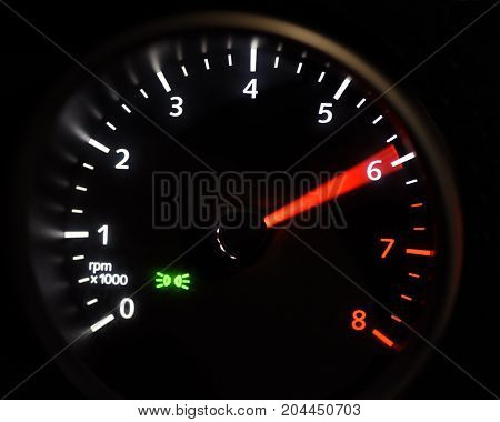 speedmeter hith black background and green red