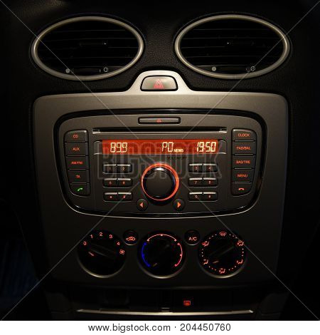 car radio tape cd panel  and buttons