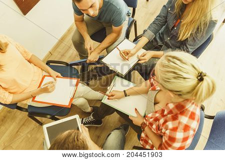 Group Of People Students Working Together