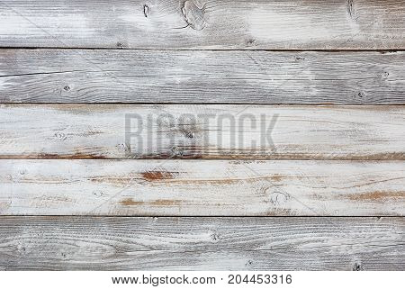 Reclaimed rustic white wooden boards for background