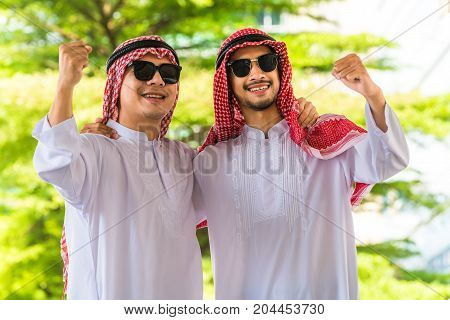 Successful Arab Man Smiling With Happiness