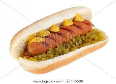 Hot Dog On A Bun