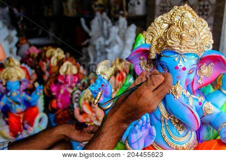 Indian Lord Ganesh Sculpting By Sculpt Artist