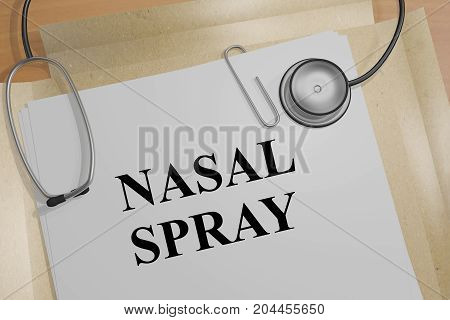 Nasal Spray - Medical Concept