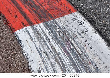 Curbs on formula 1 track in Monte Carlo, Monaco
