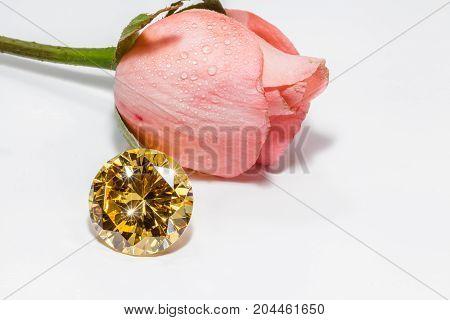 The Gold Gemstones Shine Light Pendant