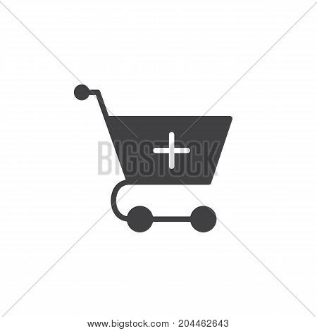 Add to shopping cart icon vector, filled flat sign, solid pictogram isolated on white. Symbol, logo illustration. Pixel perfect vector graphics