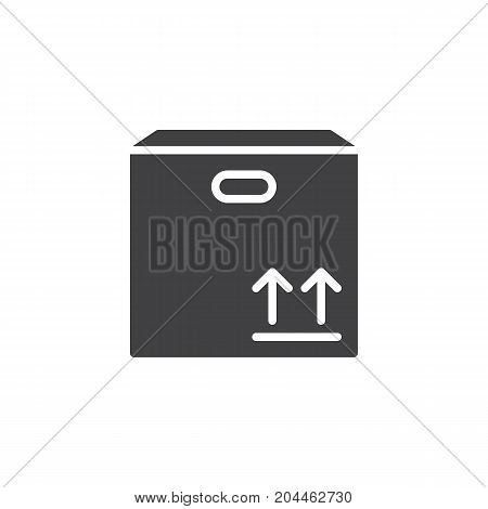Product box icon vector, filled flat sign, solid pictogram isolated on white. Symbol, logo illustration. Pixel perfect vector graphics
