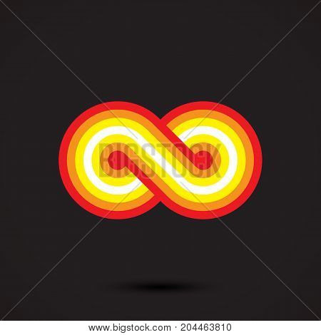 Infinity symbol icon vector illustration. eps 10