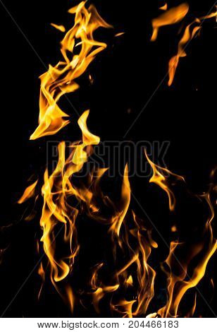 abstract background of fire flames on a black background