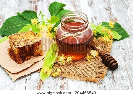 Honey And  Linden Flowers