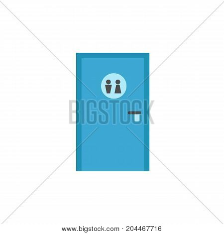 Icon of public toilet door. WC, restroom, washroom. Public place navigation concept. Can be used for topics like lavatory, shopping mall, petrol station