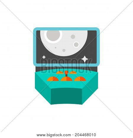 Icon of spacecraft control. Cabin, adventure, mission. Cosmos concept. Can be used for topics like space exploration, science fiction, transportation
