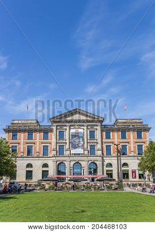 BREMEN, GERMANY - AUGUST 23, 2017: Ubersee Museum building in the center of Bremen Germany