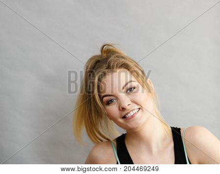 Happy Sporty Young Woman