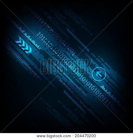 Vector technology digital design on a dark blue background.