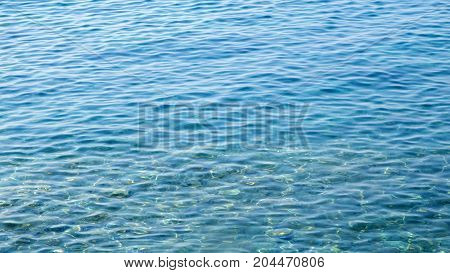 Waves on the shores of Croatian island closeup footage
