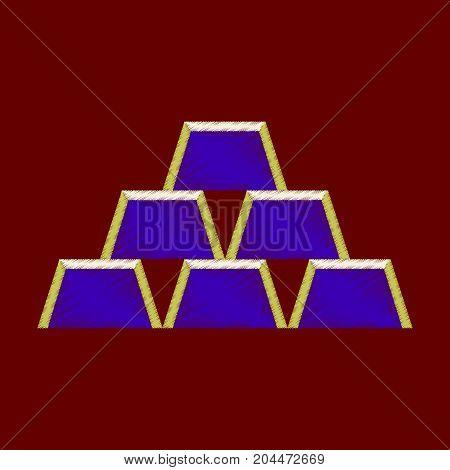 flat shading style icon Gold bars pyramid