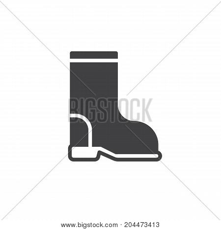 Boot icon vector, filled flat sign, solid pictogram isolated on white. Symbol, logo illustration