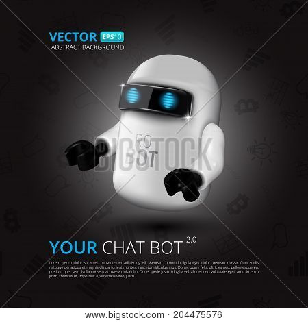 Chat Bot, The Concept Of Virtual Assistant For Ui, Mobile Application Or Website Design