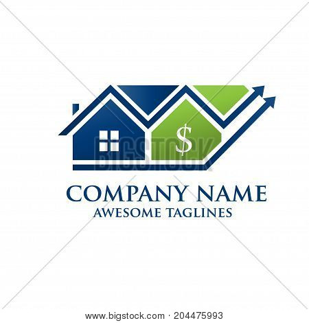 Real Estate Investments, financial success logo vector