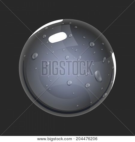 Sphere of air. Game icon of magic orb. Interface for rpg or match3 game. Big variant. Vector illustration