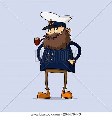 ship captain in uniform with a pipe