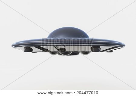 an unknown flying object against isolated background (3d rendering)