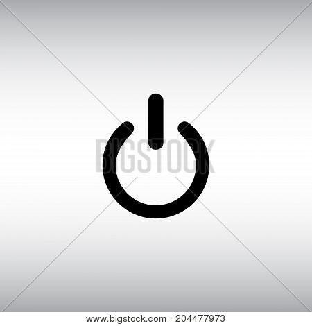 On / off isolated vector icon. On off flat vector sign. Switch button vector illustration.