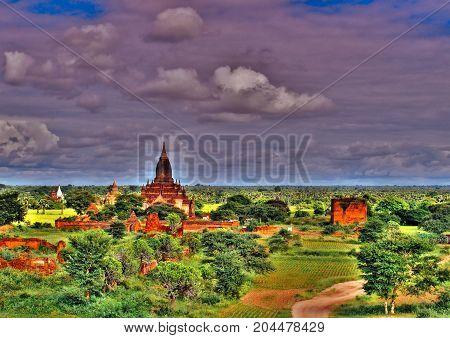 Myanmar, Bagan - Aerial View Nb. 17