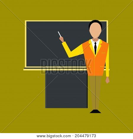 flat icon on stylish background education male teacher