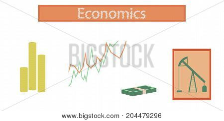 assembly flat icons school lesson business economy