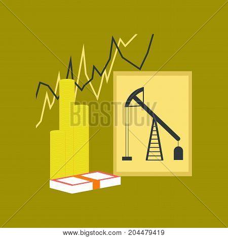 flat icon on stylish background school lesson economy
